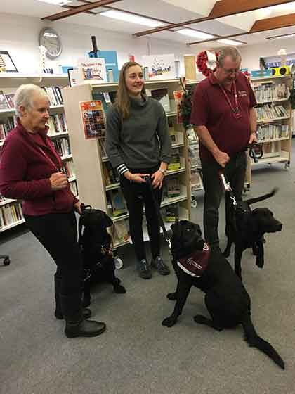 Mike & Clare Coote & their hearing dog puppies